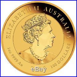 2019 P Australia Apollo 11 Moon Landing 1 oz Gold $100 Coin GEM BU SKU57689