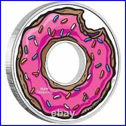 2019 The Simpsons Donut 1oz Silver Proof Coin by The Perth Mint