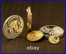 2020 1/10 Oz PROOF GOLD 1,000 Togrog Mongolia MAJESTIC EAGLE Coin
