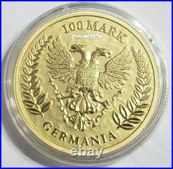2020 1 Oz GOLD 100 Mark GERMANIA BU Coin, 200 Pieces Minted