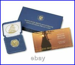 2020 400th Anniversary of Mayflower Gold Reverse Proof Coin Confirmed 20XC