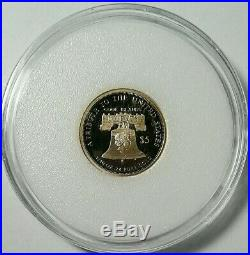 2020 $5 Flowing Hair Liberty. 24 Pure 1/10 oz Gold collectible coin