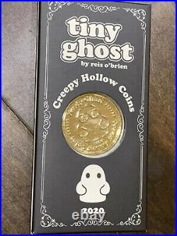 2020 Bimtoy Tiny Ghost Creepy Hollow Coins Nerdy (Gold) & Tuffy Reis OBrien