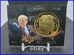 2020 Decision Series 2 Donald J. Trump 45th President /45 Gold Coin MAGA #TC10