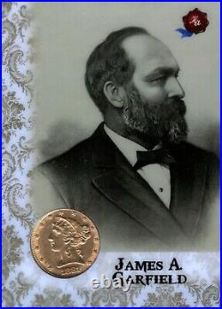 2020 Historic POTUS The First 36 1881 Gold Half Eagle Coin 8/10 James A Garfield