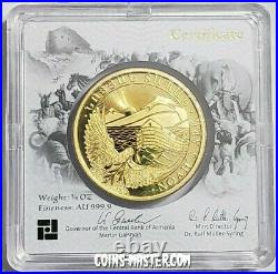 2021 1/4 Oz PROOF GOLD Armenia NOAH'S ARK Made By GEIGER Coin In Assay