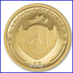 2021 1 Gram PROOF GOLD $1 Palau FOUR LEAF CLOVER Ounce Of Luck Coin