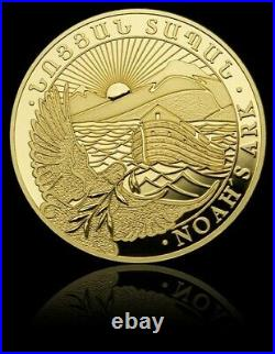 2021 1 Gram PROOF GOLD Armenia NOAH'S ARK Made By GEIGER Coin In Assay
