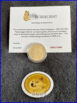 2021 Shibe Mint DOGE Coin Collection Silver, 24kt Gold Plated & Copper