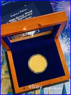 2021 Walt Disney World 50th Anniversary Mickey Commemorative Gold Coin LE 4000