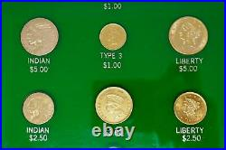 22k Yellow Gold Valuable Coins Collection with Display