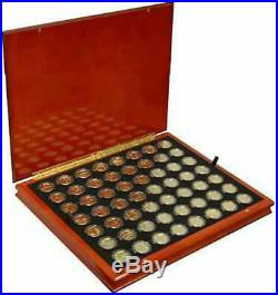 24K Gold State Quarter Collection 1999-2009 56 Coin Set in Heirloom Wood Case