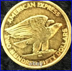 $250 American Express 18k Solid Gold Collectible Coin