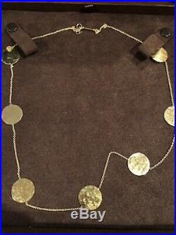 $2600 Roberto Coin Necklace 18K CHIC AND SHINE Collection with box