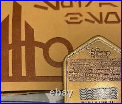 2 Disney Gold Batuu Spira Black Spire Coin Metal Star Wars Galaxys Edge ZERO