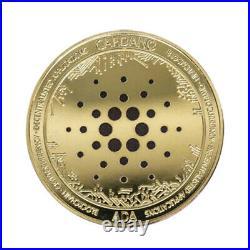50pcs Gold Ada Cardano Coin Crypto Cryptocurrency Collectible Physical Coin