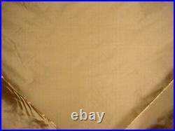 5-5/8y Lee Jofa Deep Coin Gold Silk Taffeta Drapery Upholstery Fabric