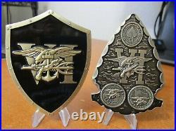 6 Seal Team Six DEVGRU Challenge Coins Squads Blue Gold Red Black Silver & Grey
