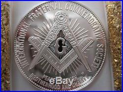 7/8-oz Gen. John Lejeune Freemason Brotherhood Masonic Coin Silver. 925+gold