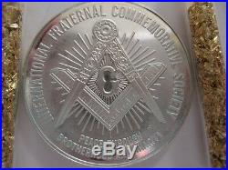 7/8-oz President Theodore (teddy) Roosevelt Masonic Art Coin Silver. 925 + Gold