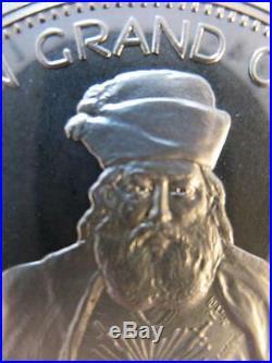 7/8-oz Rare Albert Pike Freemason Grand Commander Masonic Coin Silver. 925 + Gold