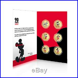 90 Years of Mickey Collection Gold Coin / Medal Complete Pack