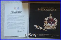 A History of the Monarchy Silver proof Crown Collection 12 Coin Set Plated Gold