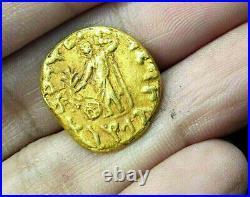 Ancient Indo-Scythian King Azes II Tetradrachm King Horse Athena Solid Gold Coin