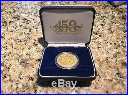 Anheuser-Busch 150 Anniversary Limited Edition Coin 1oz. Fine Silver & 24k gold