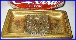 Antique Tiffany Studios Ny # 975 Bronze Bookmark Desk Art Card Coin Tray Holder