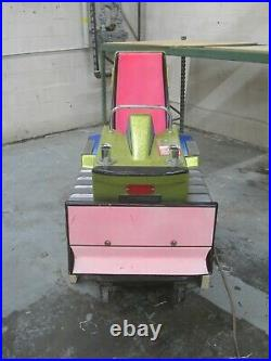 Antique coin operated Bulldozer Kiddie Ride Pink with Gold