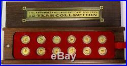 Australian Lunar Gold Coin Series 12 Year Collection 1996-2007 1/20 oz $5