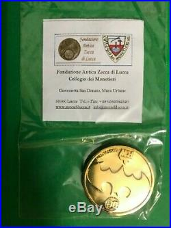 BATMAN the dark knight returns LIMITED SIGNED FRANK MILLER Gold Coin Italian