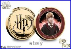 BRAND NEW Official Harry Potter Gold Plated Medal Boxed Edition