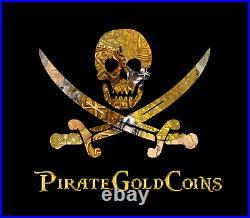 Black Amethyst Crystals Quartz Mineral Geode Pirate Gold Coins Earth Treasure
