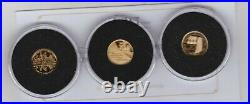 Boxed 2018 Alderney & Tristan Cenetenary Of Ww1 Three Gold Coin Collection