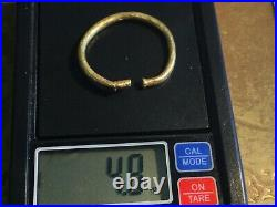 CELTIC Solid GOLD TORC MONEY Coin Ex near Winchester, ENGLAND 150-50BC