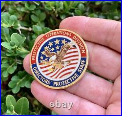 CIA DCI Director's Protective Staff Operations Special Agent Flag Challenge Coin