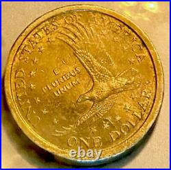 COLLECTIBLE 2000 D. It's SACAGAWEA ONE DOLLAR COIN. GOLDEN' US LIBERTY