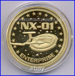 CREATION Las Vegas Star Trek Convention 2006 GOLD COIN with ENTERPRISE NX-01