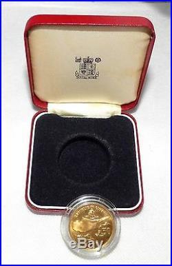 CYPRUS SOVEREIGN 50 POUND GOLD COIN 1977 Archbishop Makarios RARE COLLECTABLE