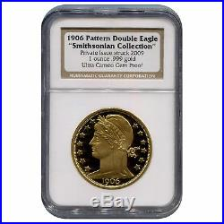 Certified 1906 Pattern Double Eagle Smithsonian Collection 1 Ounce. 999 Gold