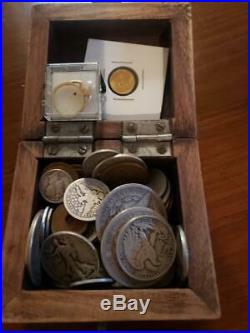 Coin Collection Lot! Gold & Silver coins + Gold Pearl Ring Over 100 items