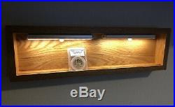 Coin Slab Display Shelf Stand Holder LED Light Up PCGS/NGC Gold, Silver -Red Oak