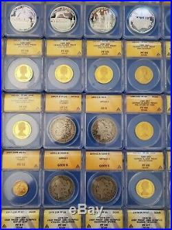 Coin collection 408 items gold, silver, 1893s Morgan, 1877 IH