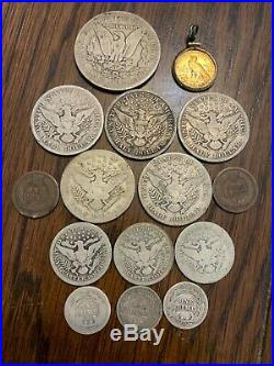 Coin collection. CC Morgan. Gold Quarter Eagle. Barber coins. Lot of Key dates