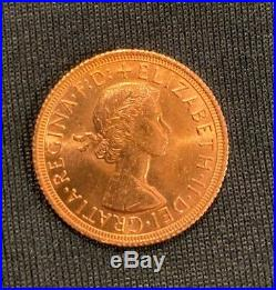 Collectible 1963 Gold Sovereign Elizabeth II Young Head Gold Coin