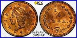 Collection of 10 California Fractional Gold Coins in PCGS Secure+ with True View