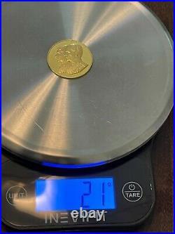 Commemorative Collectable Pahlavi Gold Coin, 21g