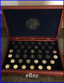 Complete Proof Presidential Dollar Coin Collection 39 Gold Plated And 2 Platinu